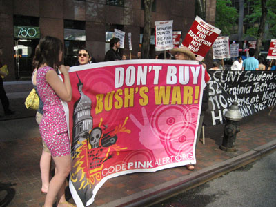 Code pink joins the picket line